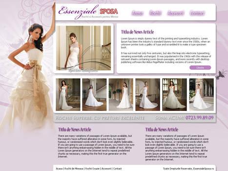 Essenziale Sposa Website Layou