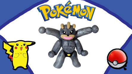 Polymer Clay Machamp by thedaughterofalec