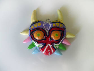 Polymer Clay Majora's Mask by thedaughterofalec