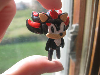 Polymer Clay Shadow the Hedgehog by thedaughterofalec