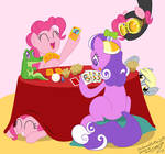 Request: Pinkie and Screwball poker game