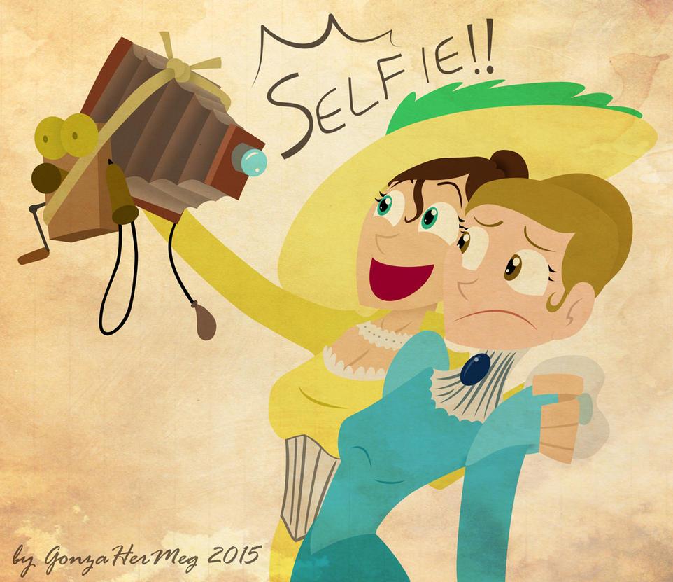 Selfie: 1900's style by GonzaHerMeg