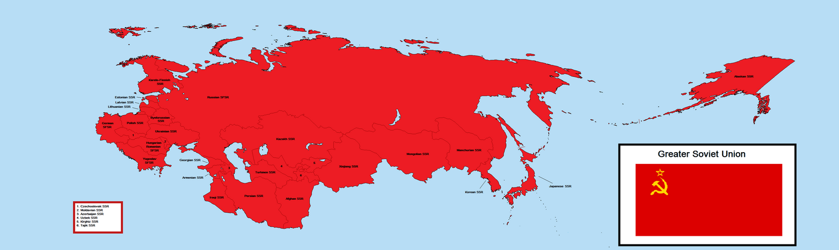 Greater Soviet Union 2 by ARPS123