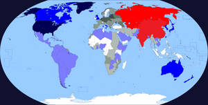A three-front Cold War (1983) --- World Version