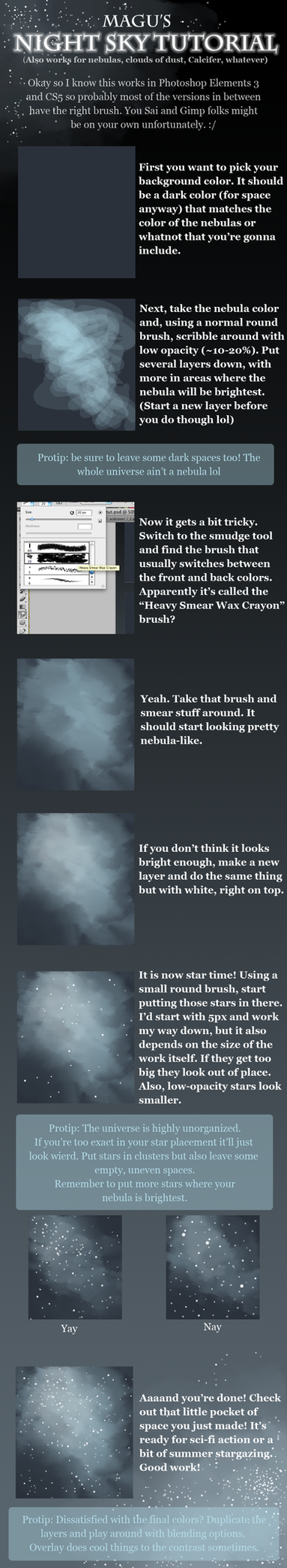 Night Sky Tutorial by Quilofire