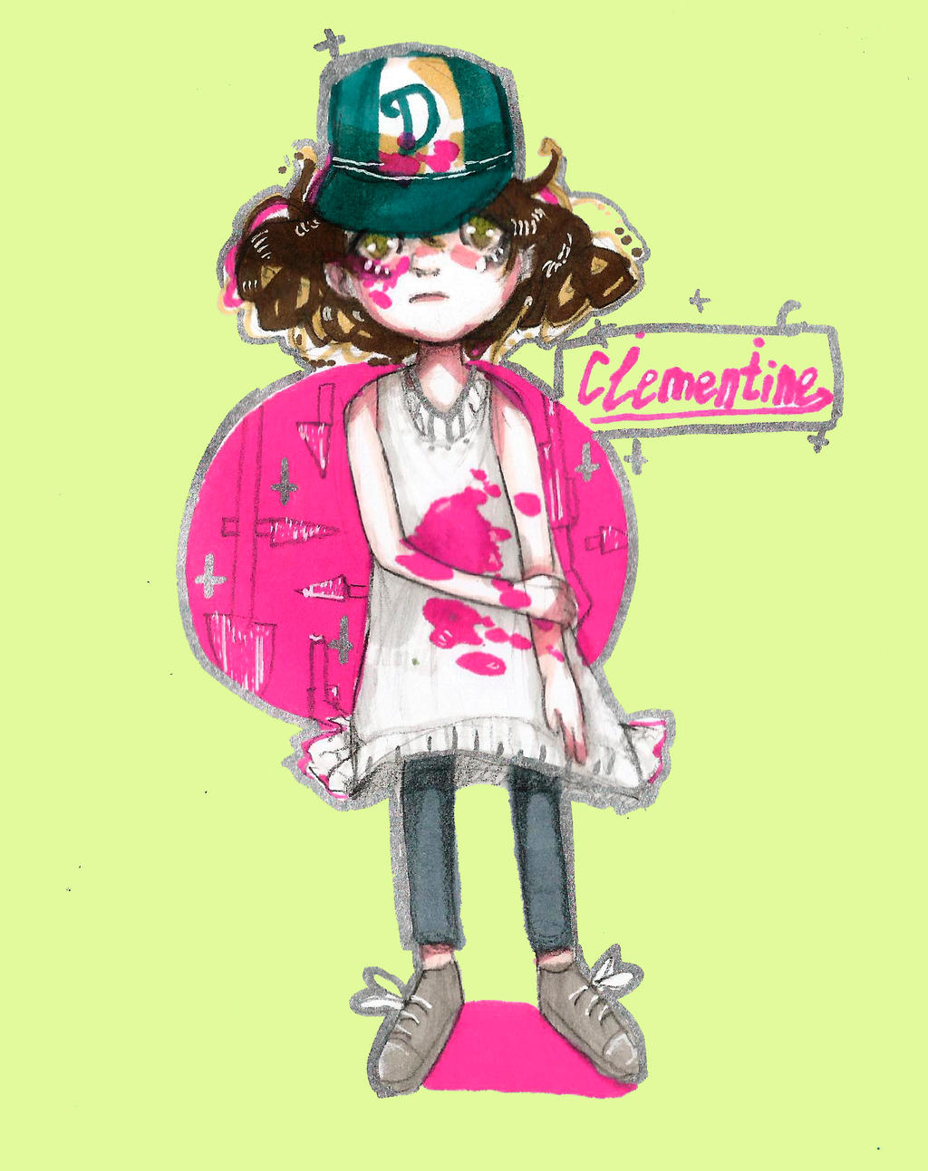 The walking dead.Clementine by Vris-Xx