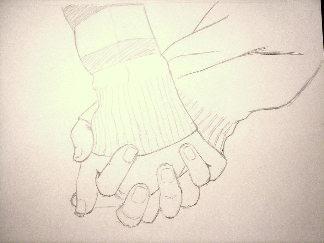 Line Drawing Holding Hands : Holding hands sketch by hieislover on deviantart