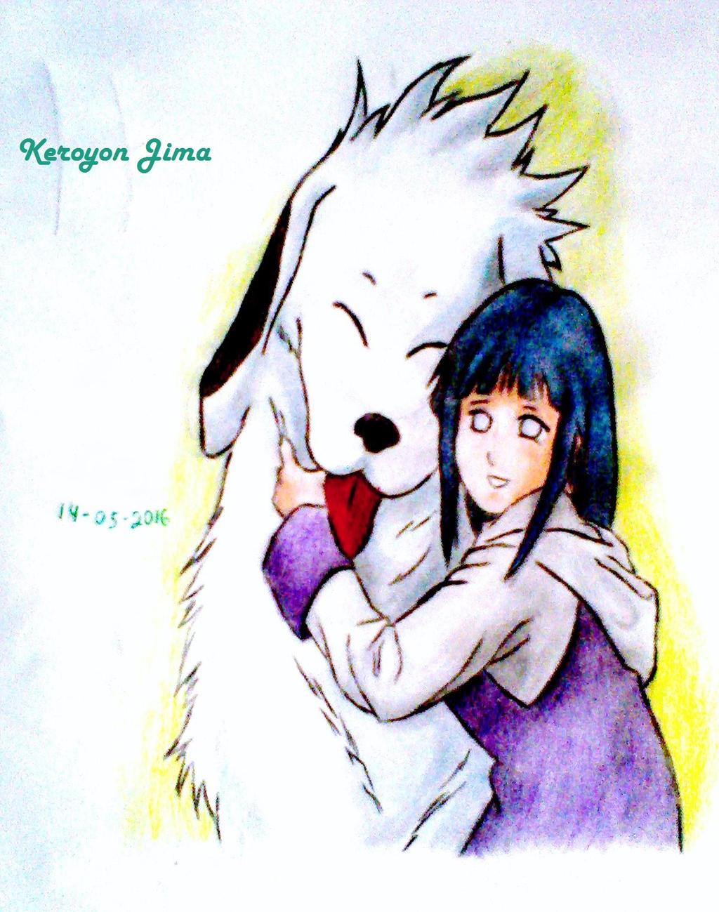 Hinata Hyuga e Akamaru by Ana901