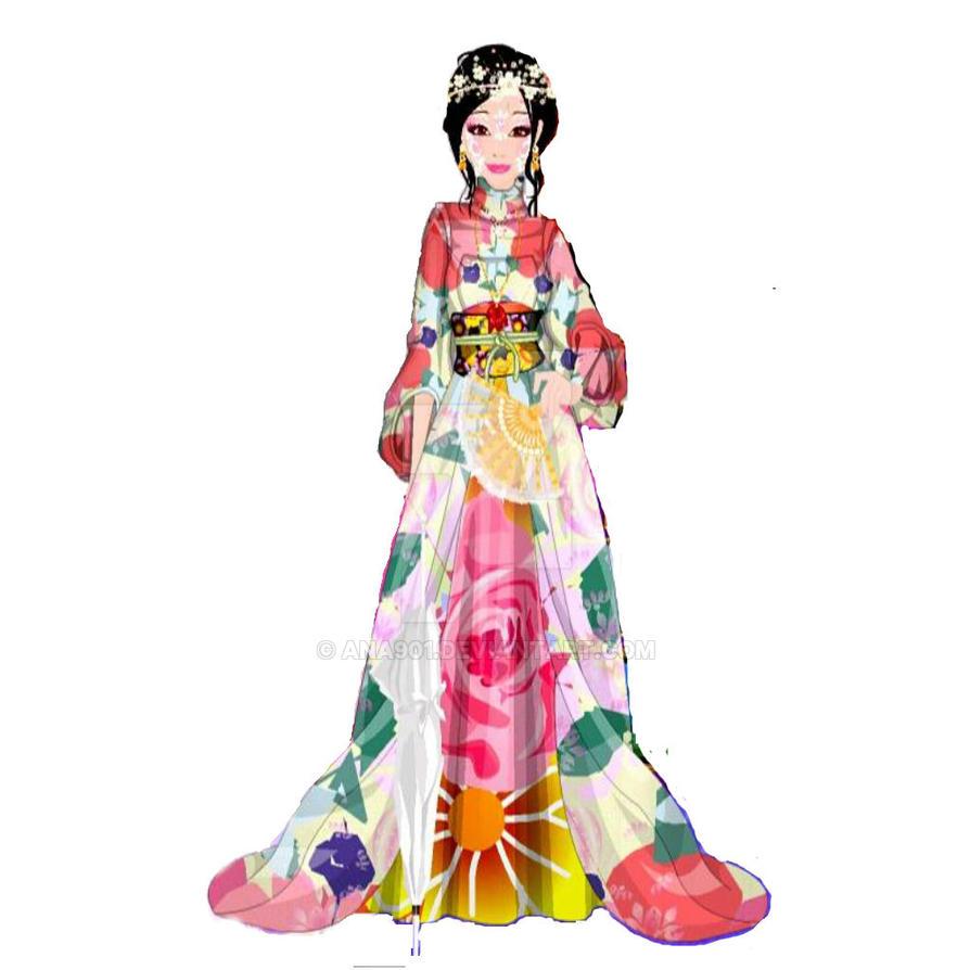 Japanese kimono from Misaki Mey-Chan by Ana901