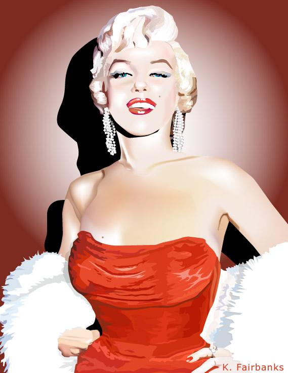 Marilyn Monroe in Red by eyeqandy