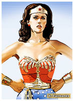 Wonder Woman Comic Book Style by eyeqandy