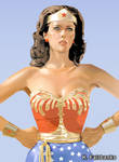 Lynda Carter as Wonder Woman (vector drawing)