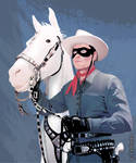 Silver and the Lone Ranger (Vector Drawing)