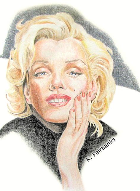 Marilyn Monroe In Black by eyeqandy