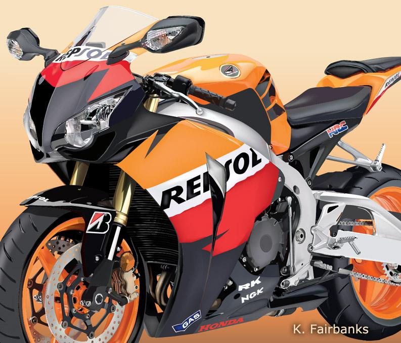 Repsol Honda (vector drawing) by eyeqandy