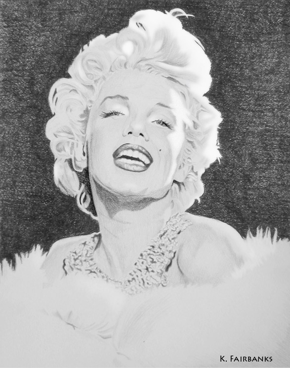 Diamonds and Mink (pencil drawing) by eyeqandy