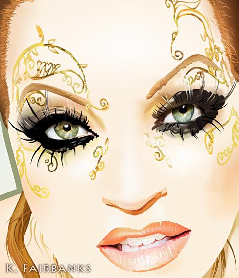 Kristine W - Dance Singer (digital drawing) by eyeqandy