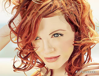 Christina Hendricks (vector drawing) by eyeqandy