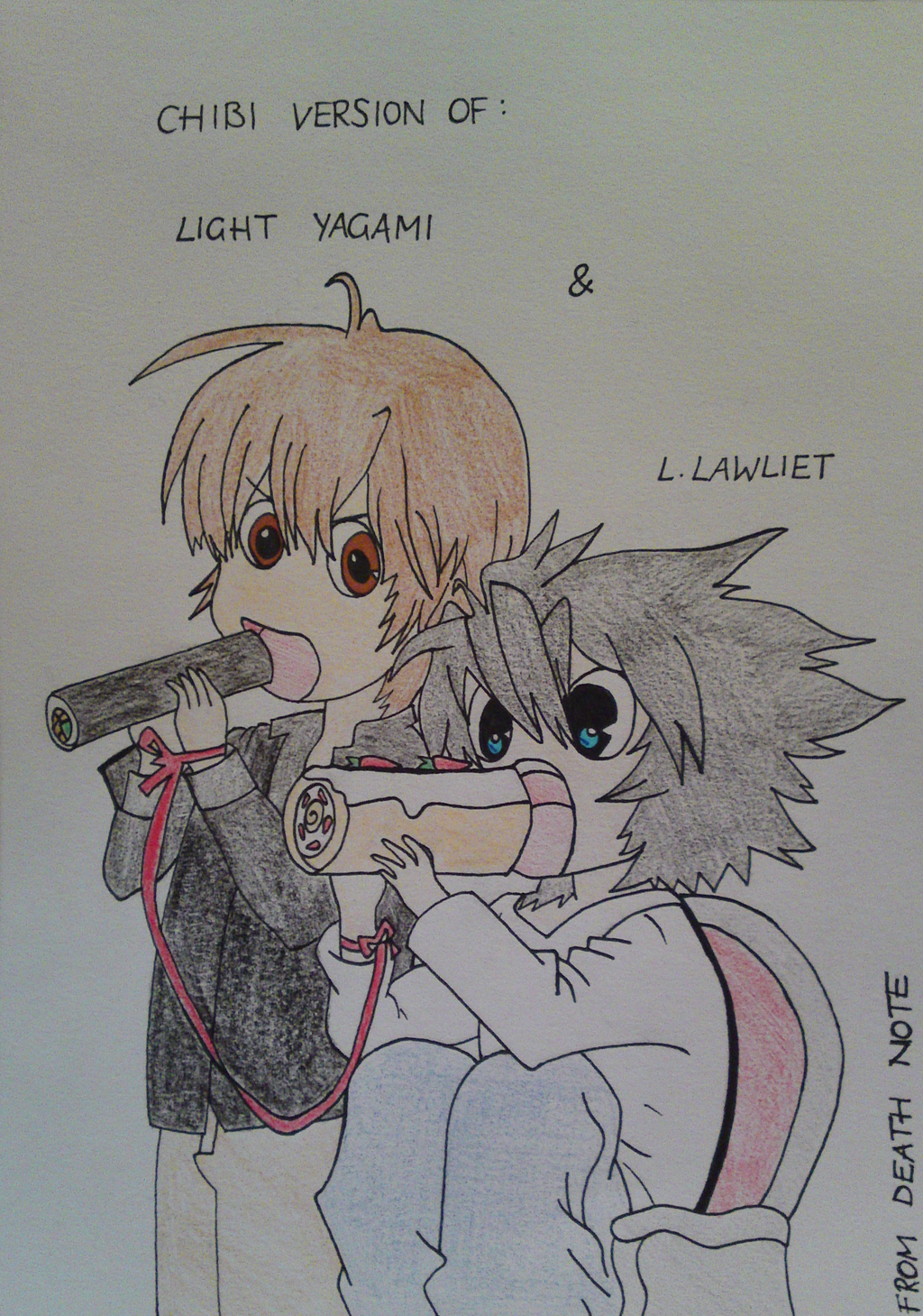 death note light and l chibi - photo #34