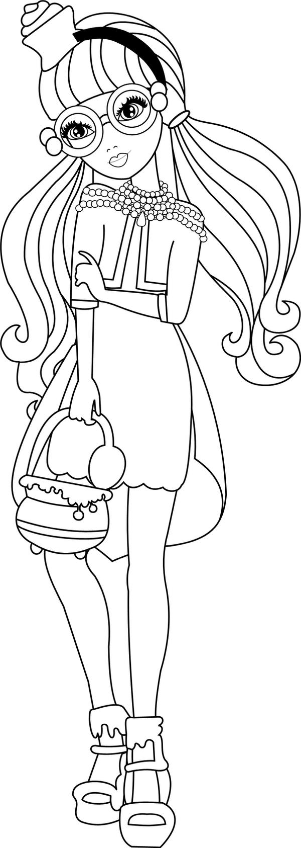 Colouring pages for ever after high -  Ginger Coloring Ever After High By Jessicajanet