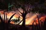 Sunset Climbers by izanamiinblueart by TheWillofDarthAvis