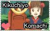 Komachi and Kikuchiyo Stamp by angelaART