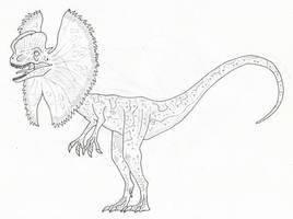 Jurassic Park dilophosaurus by SommoDracorex