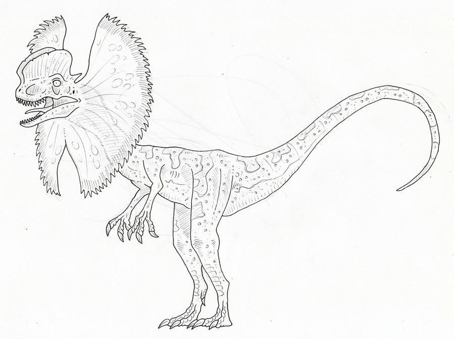 dilophosaurus jurassic park versionsommodracorex on