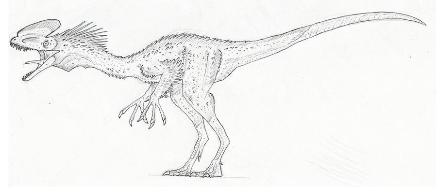 Guanlong dinosaur coloring page sketch coloring page for Dilophosaurus coloring page