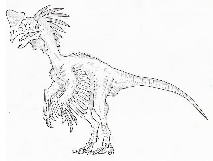 oviraptor dinosaur coloring pages - photo#14