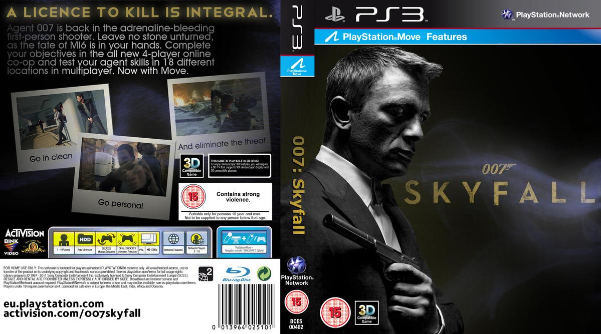 007 skyfall playstation 3 game cover by crustydog on deviantart