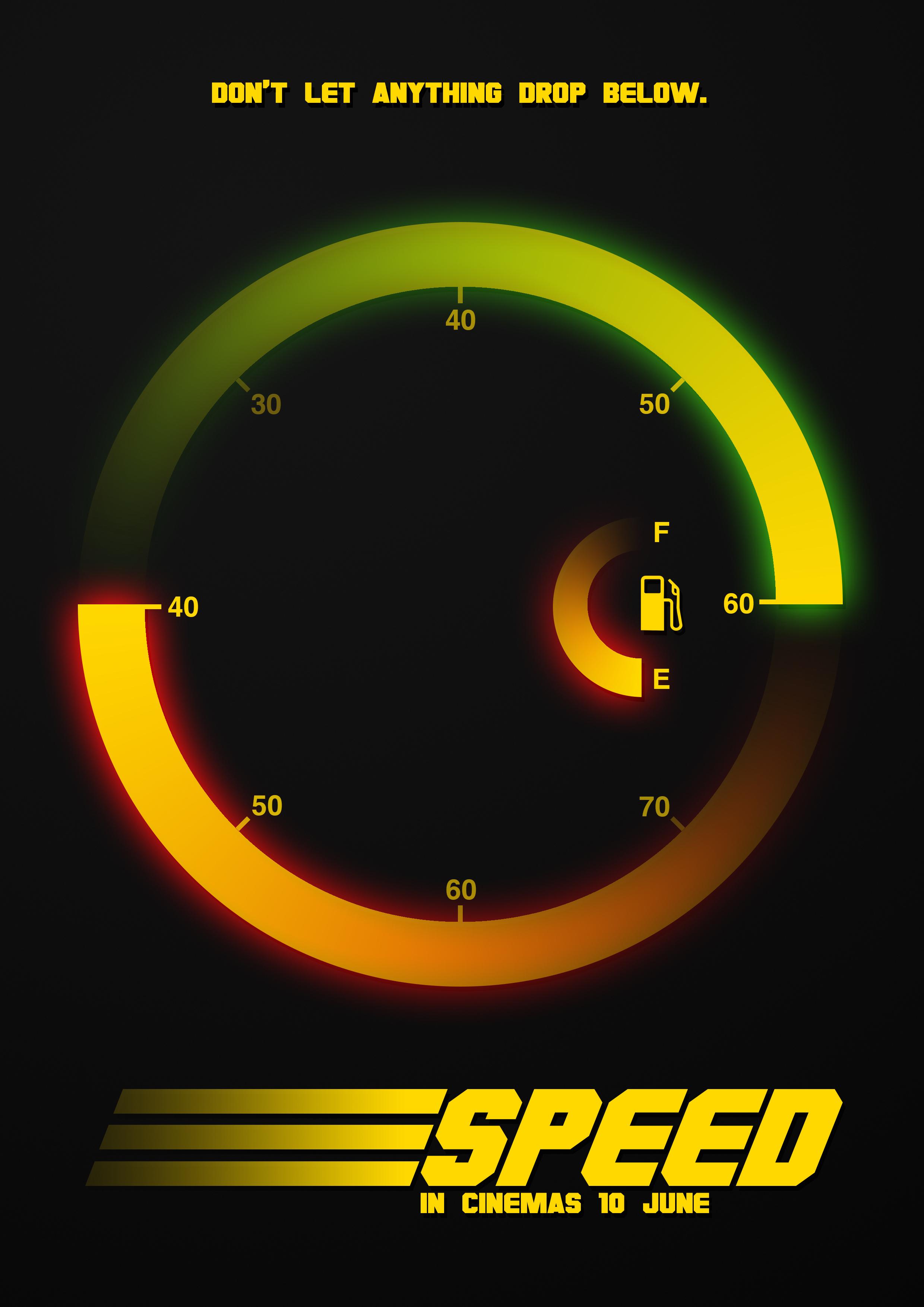 Speed - 1994 Film Teaser Poster by CrustyDog