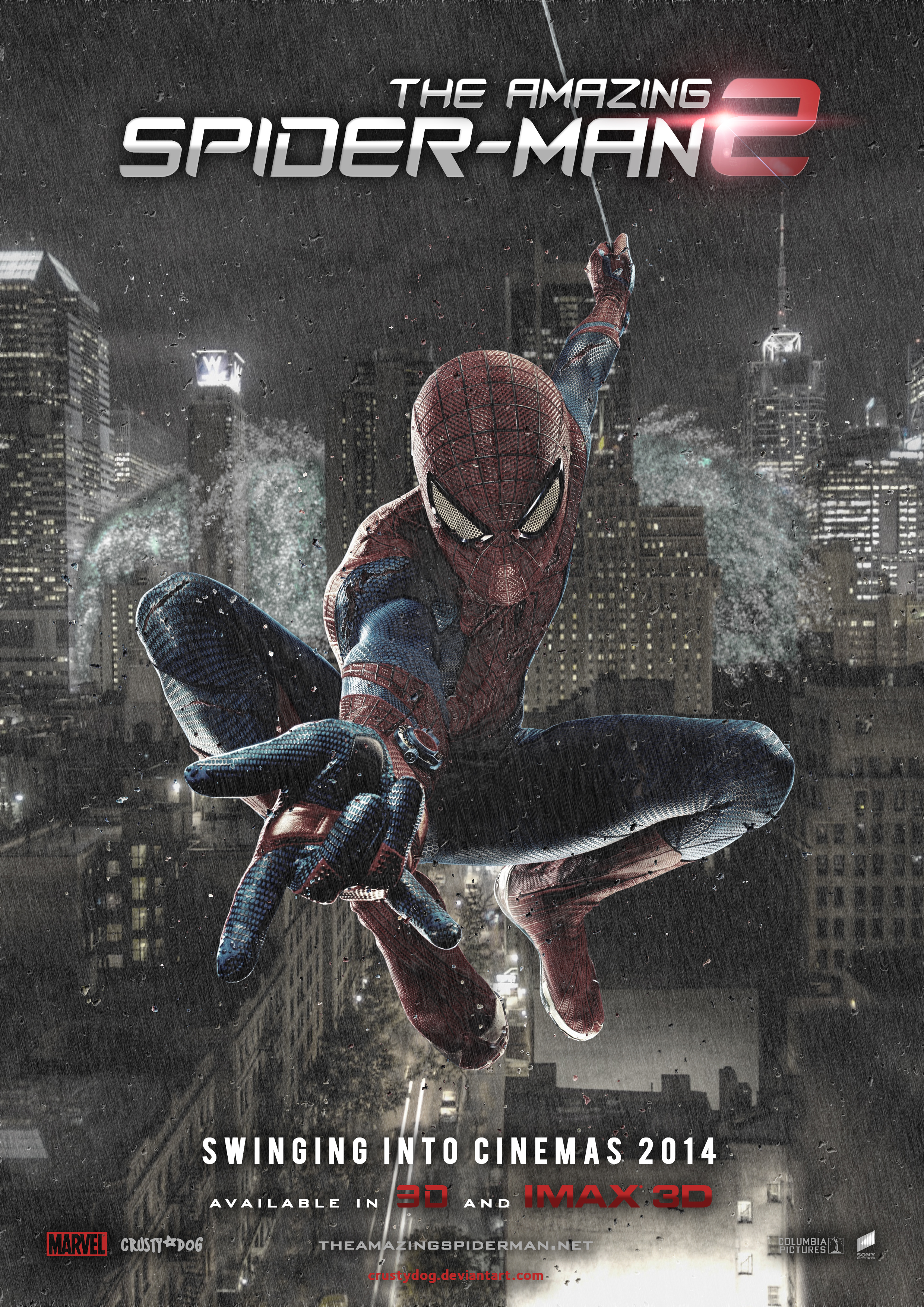the amazing spiderman 2 2014 movie poster by crustydog