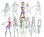 fashion sketch medley by bleedingmoon114