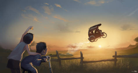 The Flying Tricycle by trisketched