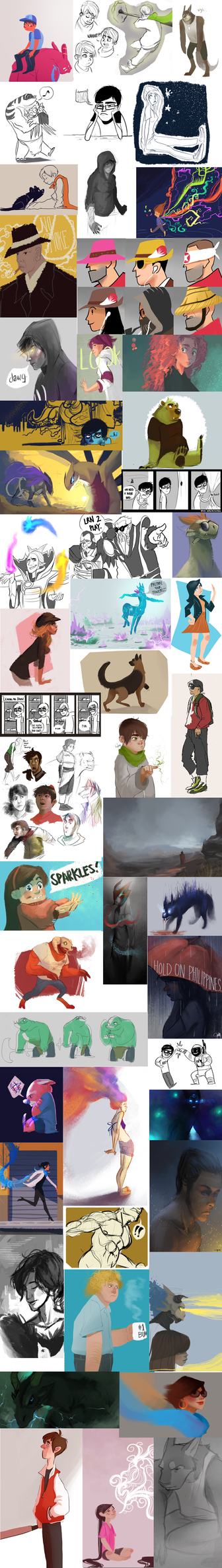 Tumblr Dump 2012 by trisketched
