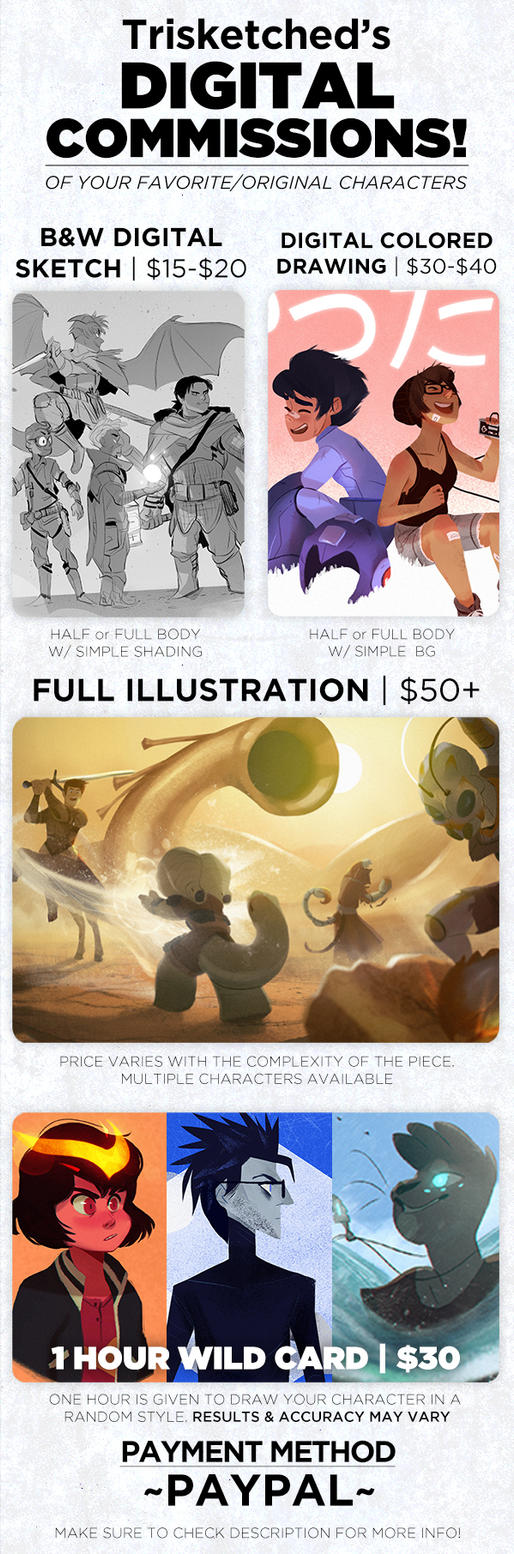 Trisketched Commission Price List [OPEN] by trisketched