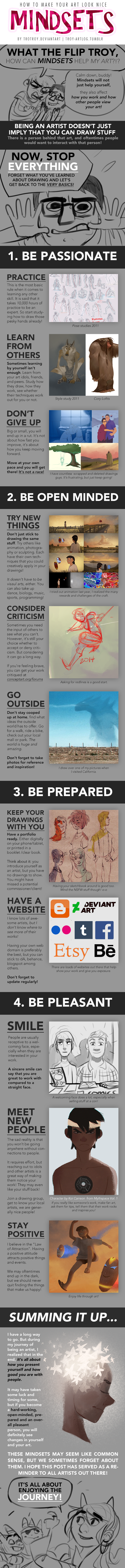 HOW TO MAKE YOUR ART LOOK NICE: Mindsets