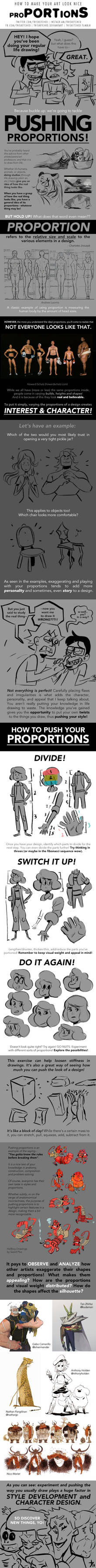 HOW TO MAKE YOUR ART LOOK NICE: Proportions