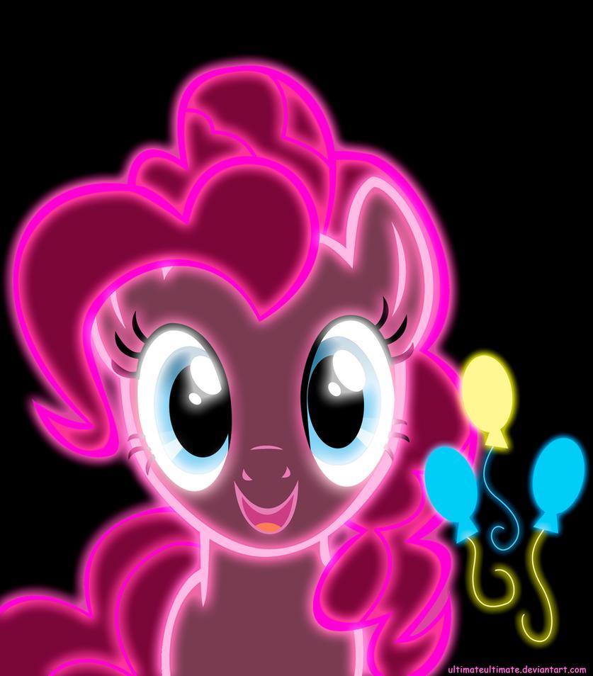 Neon Pinkie Pie by ZantyARZ