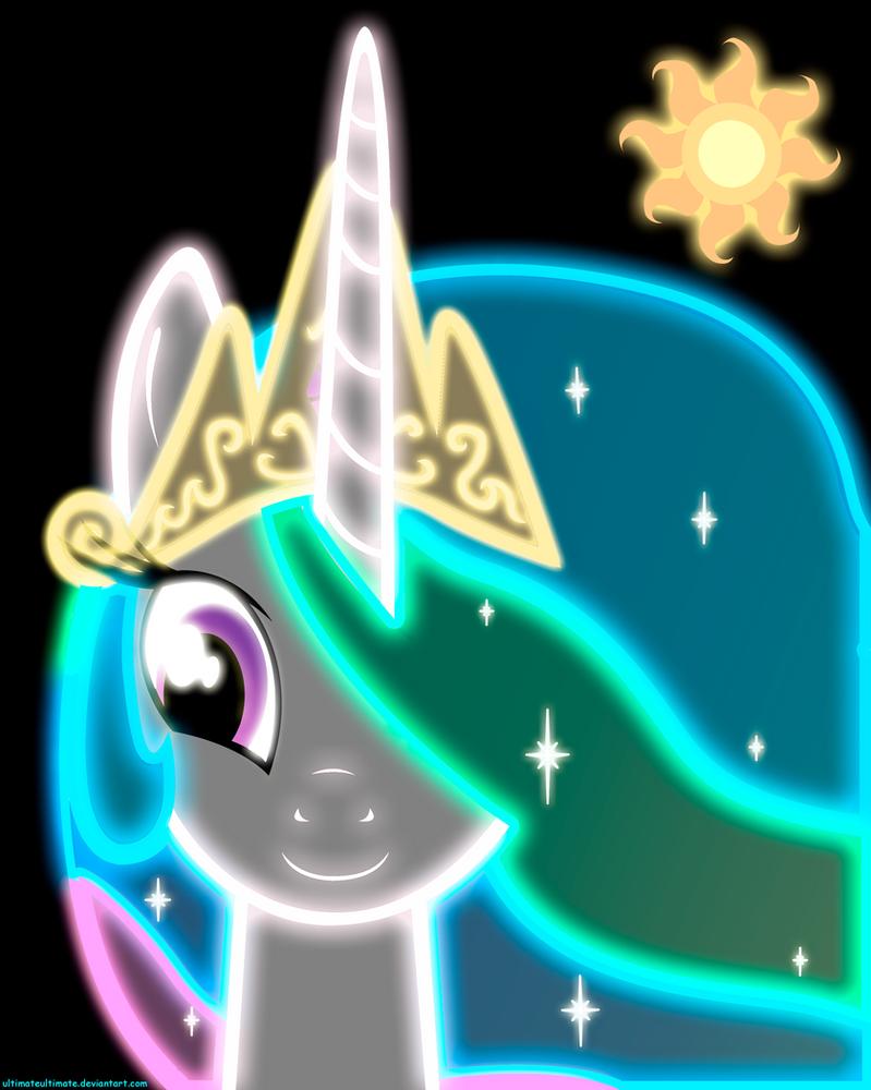 Neon Princess Celestia