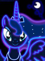 Neon Princess Luna by ZantyARZ