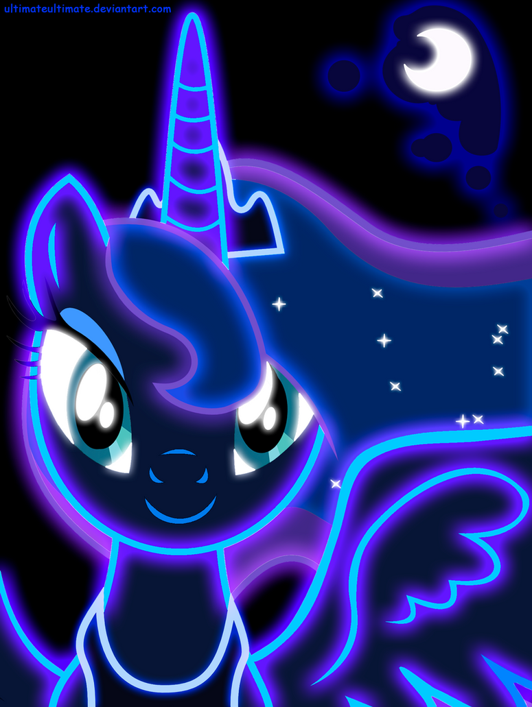 Neon Princess Luna by ZantyARZ