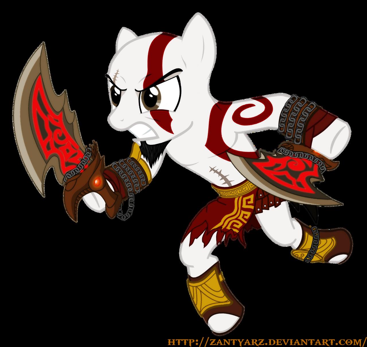 Kratos The Pony of War by ZantyARZ