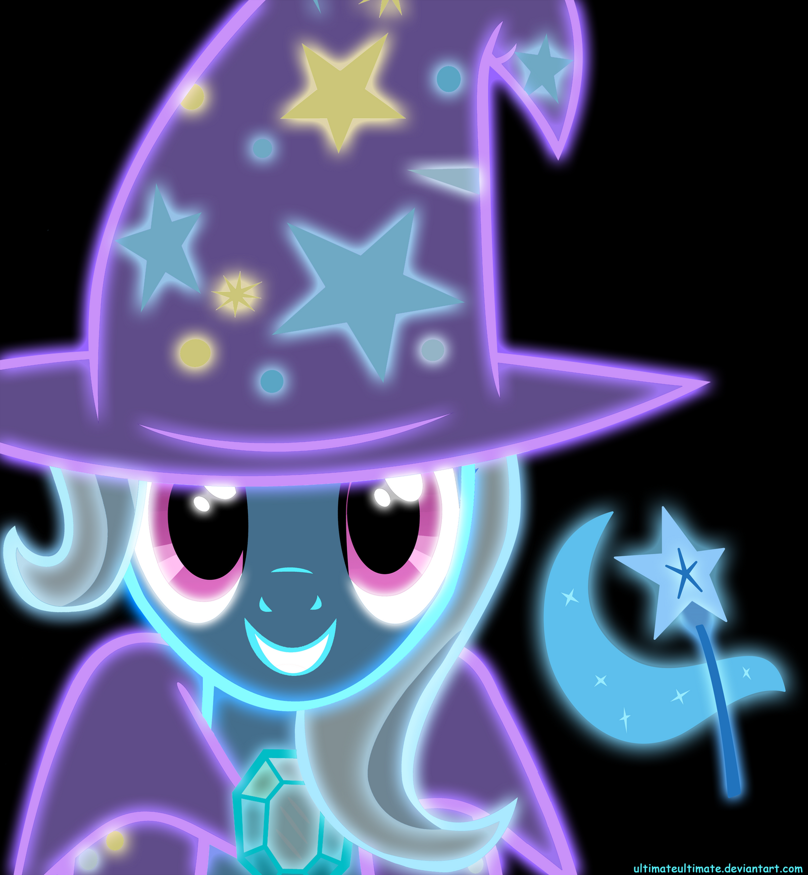 Neon Great and Powerful Trixie by ZantyARZ