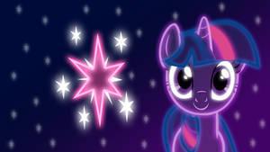 Neon Twilight Sparkle Wallpaper by ZantyARZ