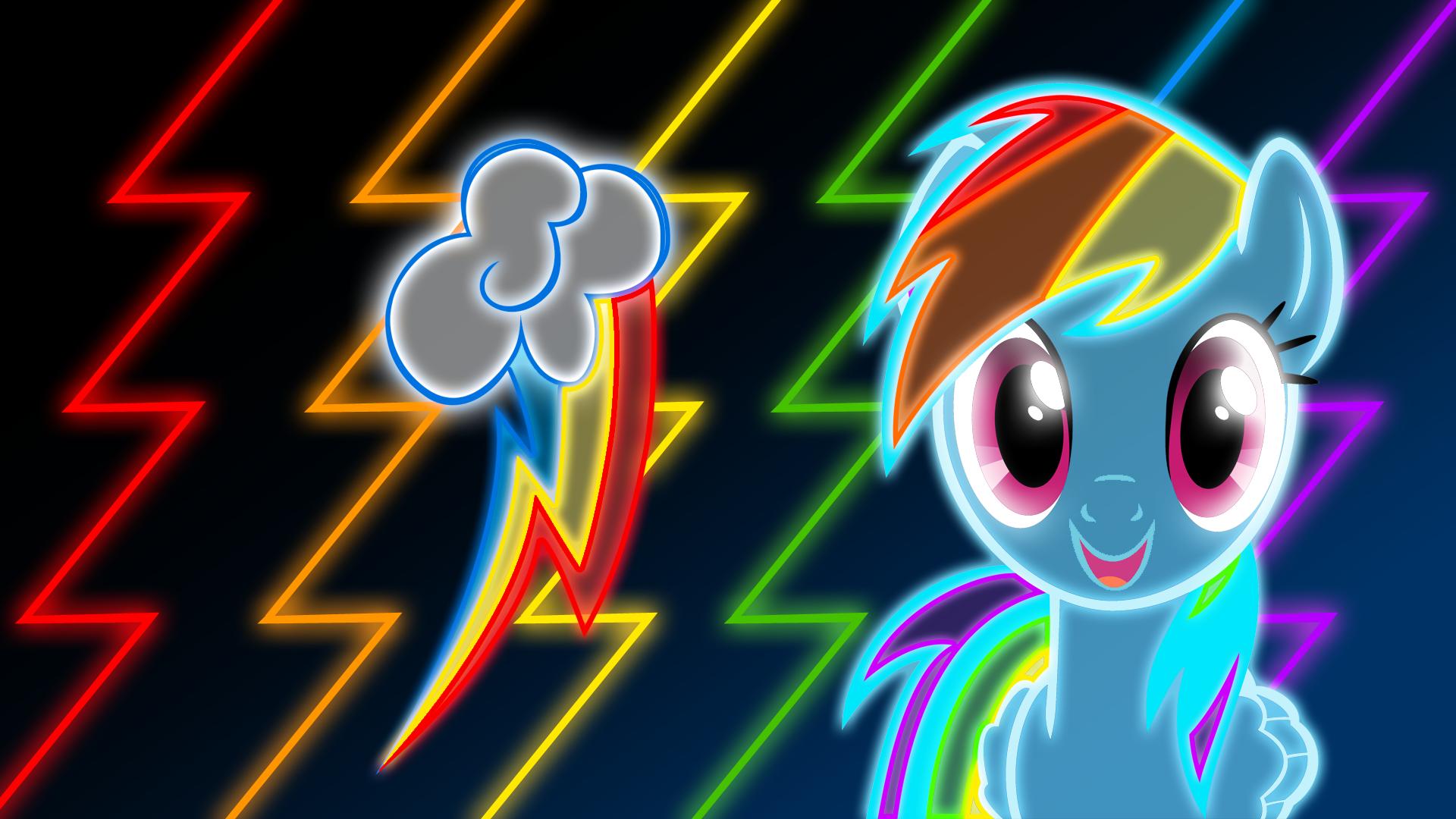 Neon Rainbow Dash Wallpaper by ZantyARZ
