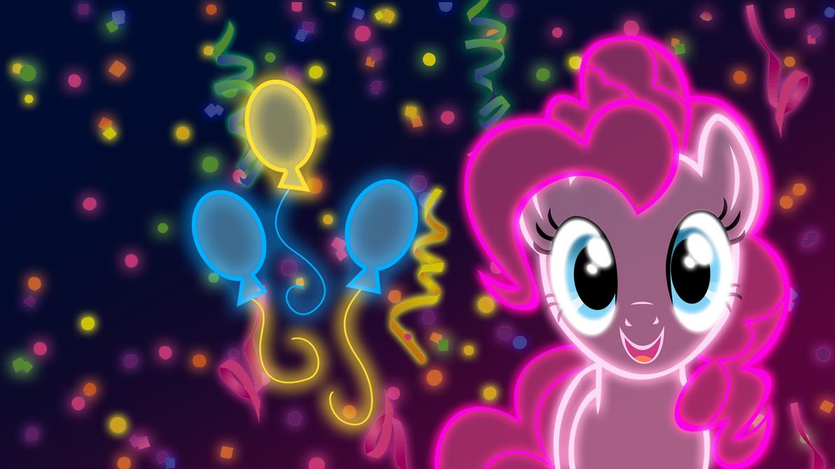 Neon Pinkie Pie Wallpaper by ZantyARZ