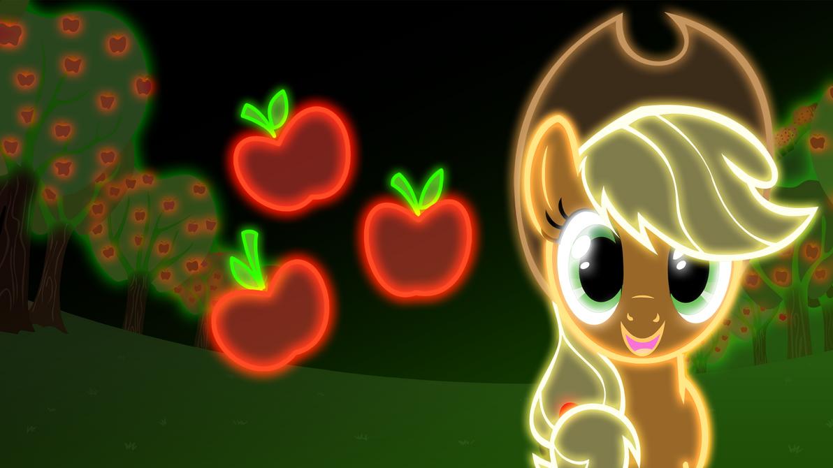 Neon Applejack Wallpaper By ZantyARZ