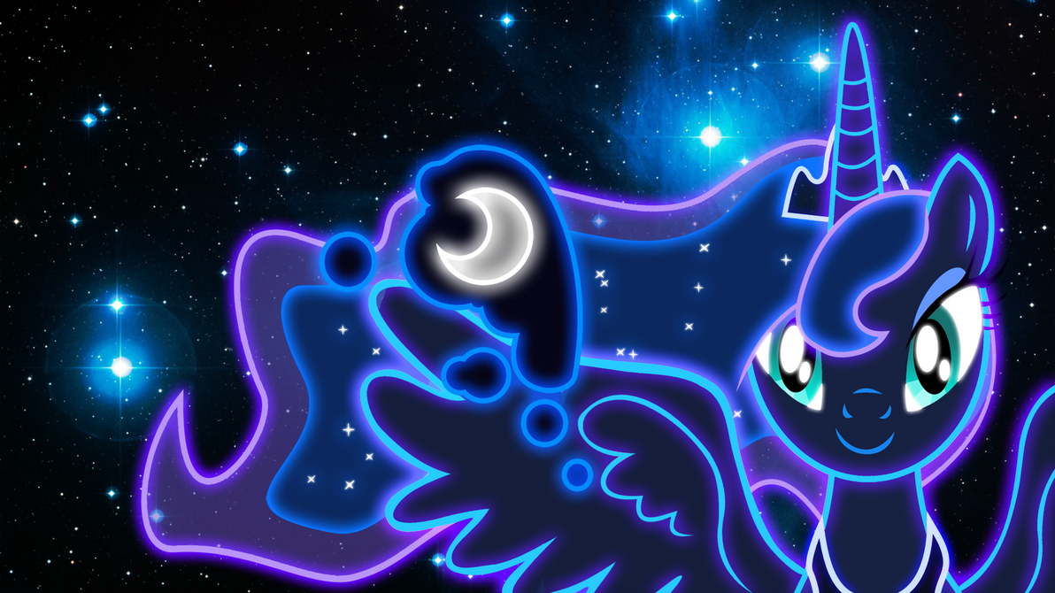 Neon Princess Luna Wallpaper by ZantyARZ